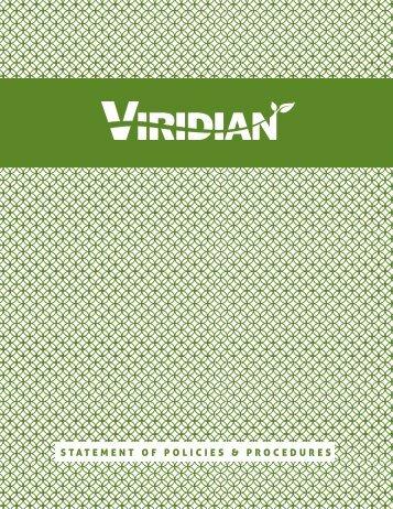 STATEMENT OF POLICIES & PROCEDURES - Viridian