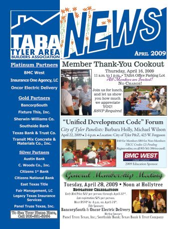 April 2009 - Tyler Area Builders Association