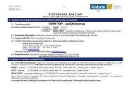 Biztonságtechnikai adatlap (Corn Top) - Kwizda