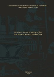 Normas para elaboração de trabalhos acadêmicos - UTFPR