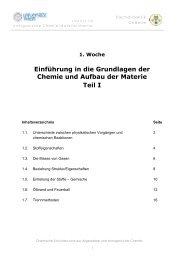 Einführung in die Grundlagen der Chemie und Aufbau der Materie ...