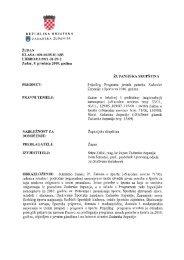 b) Prijedlog Programa javnih potreba Zadarske županije u športu za ...