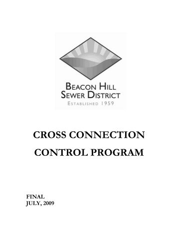 cross connection control program final july, 2009 beacon hill sewer ...