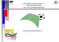 1. FC Sulzbach (Taunus) 1948 e.V. mehr als 60 Jahre jung Der 1 ...