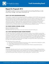 Youth Grantmaking Board Request for Proposals - The Seattle ...
