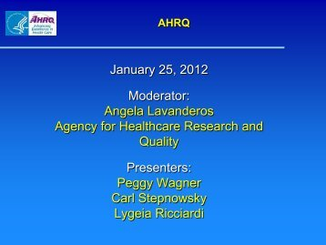 use - AHRQ National Resource Center; Health Information Technology