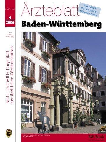 Ärzteblatt 4/2006 - Landesärztekammer Baden-Württemberg