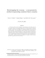 Bootstrapping the economy – a non-parametric method of ...