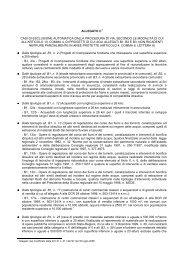allegato C - casi di esclusione - Valutazione Ambientale