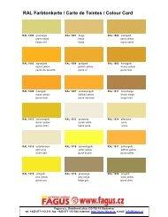 RAL Farbtonkarte / Carte de Teintes / Colour Card