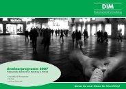 Seminarprogramm 2007 - Deutsches Institut für Marketing