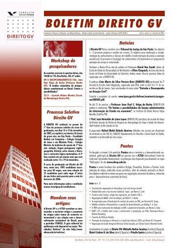 Novembro 2005 - Escola de Direito de São Paulo - Fundação ...