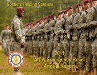 AER 2011 Annual Report - Army Emergency Relief