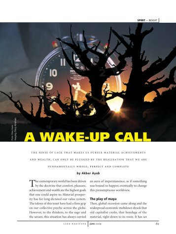 A wAke-up cAll - Life Positive