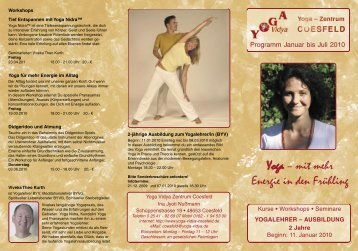 Yoga – mit mehr Energie in den Frühling - Yoga Vidya