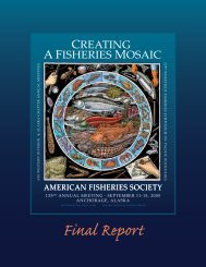 2005 AFS Program Book - American Fisheries Society