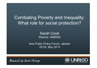 Combating Poverty and Inequality: What role for social protection?