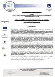 UNIVERSITÉ DE NICE-SOPHIA ANTIPOLIS - CREDHO