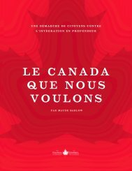 le canada que nous voulons - Holy Cross International Justice Office