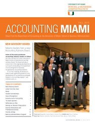 Accounting Miami - University of Miami School of Business