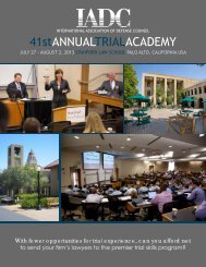 download the brochure - International Association of Defense Counsel