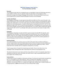 MBIO 4261 Galapagos Islands Field Trip Pre-Trip Information and ...