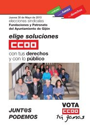 Programa electoral de CCOO para las elecciones sindicales en los ...