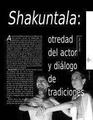 otredad del actor y diálogo de tradiciones