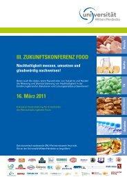 III. ZukunftskonferenZ food - ZNU- Zentrum für Nachhaltige ...