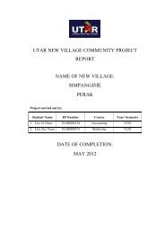 UTAR NEW VILLAGE COMMUNITY PROJECT REPORT NAME OF ...