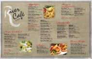 Download Menu pdf - River Cafe & Bar