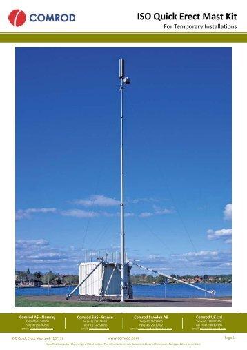 ISO Quick Erect Mast Kit - Comrod