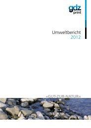 Umweltbericht 2012 - GDZ AG Zürich