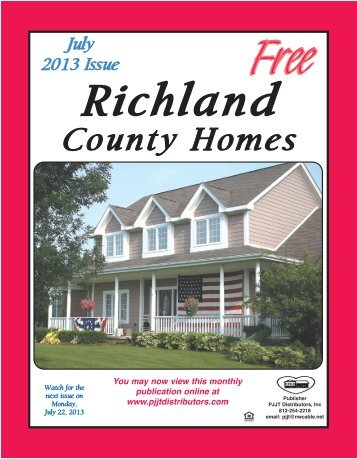 July 2013 Issue Richland County Homes - Hgsitebuilder.com ...