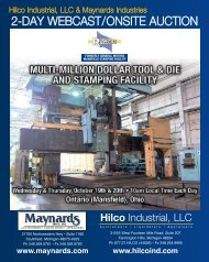 2-day WebCast/OnsIte auCtIOn - Maynards Industries