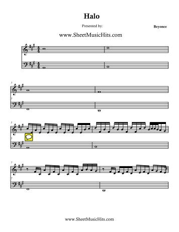 Beyonce - Halo.mus - Daily Piano Sheets