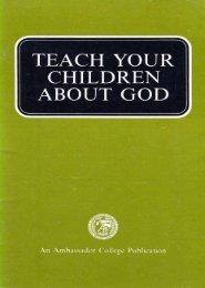 Teach Your Children About God PDF - Church of God Faithful Flock