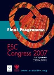 ESC Congress 2007 - European Society of Cardiology