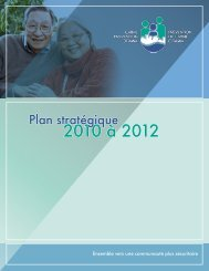 Plan stratégique 2010-2012 - Crime Prevention Ottawa