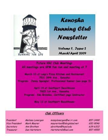 Mar-Apr 09 Newsletter - Kenosha Running Club