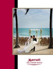 Wedding Packages & Menus - Hollywood Florida Hotel on the Beach