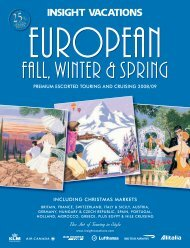 Insight Vacations European Fall Winter and Spring - TPI Worldwide