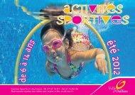 Activités sportives pour les jeunes (été 2012) - Ville d'Oullins