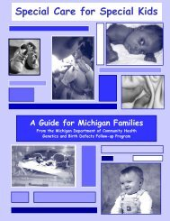 Special Care for Special Kids - State of Michigan