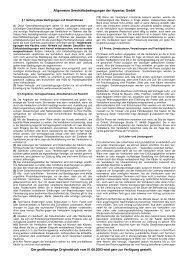 Allgemeine Geschäftsbedingungen der Hypertac GmbH Der ...