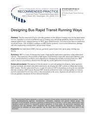 Designing bus rapid transit running ways - apta - American Public ...