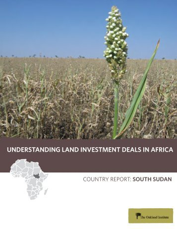 understanding land investment deals in africa - Oakland Institute
