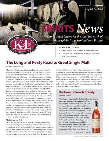 August 2013 - Spirits - K&L Wine Merchants
