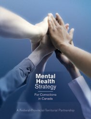 Mental Health Strategy for Corrections in Canada