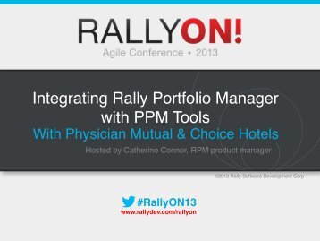 Integrating Rally Portfolio Manager with PPM Tools - Rally Software